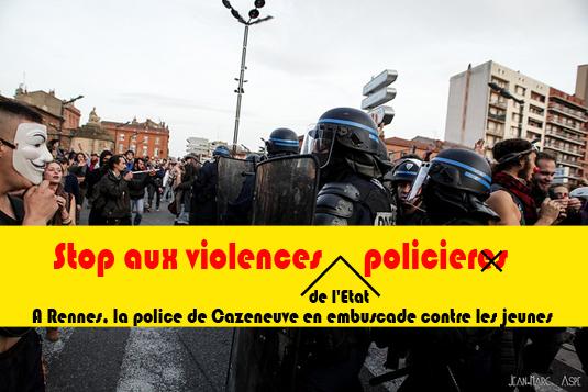 A Rennes, la police de Cazeneuve en embuscade contre les jeunes