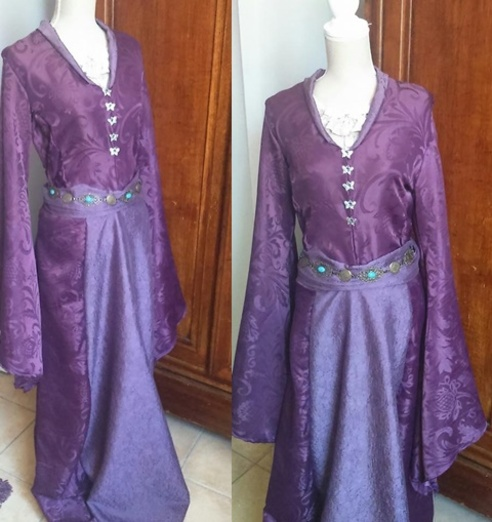 Robe violette Sansa (2)