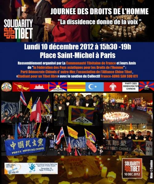 10 Décembre 2012 TIBET PARIS