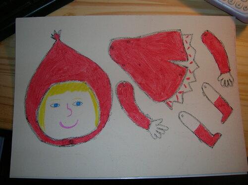 Pantin Petit Chaperon Rouge