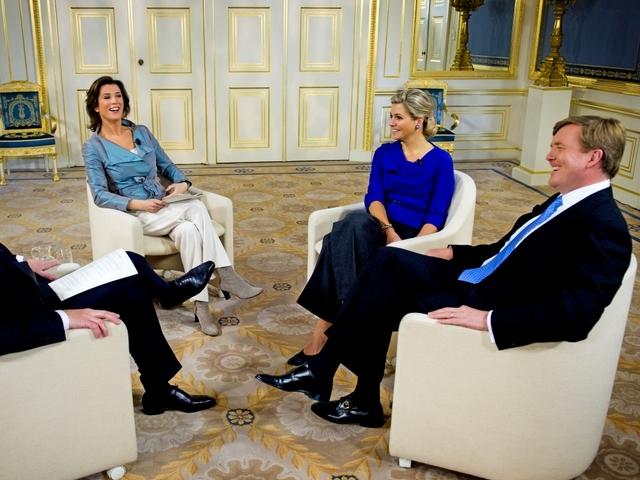 Maxima et Willem Alexander à la télé
