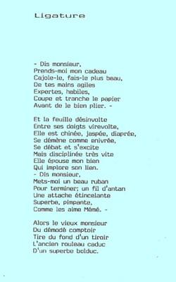 Virevolte ! Ligature :Texte de l'écrivain Charentais HJ Gros