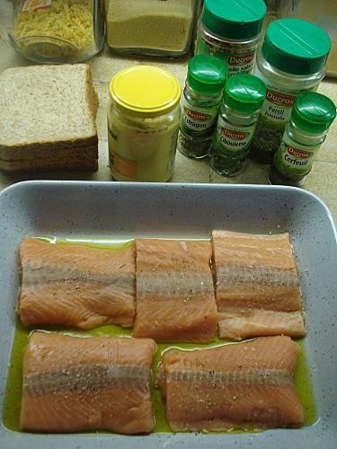 Pavés de Saumon en Croûte de Moutarde 2