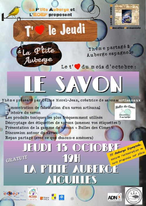 T'♥ le Jeudi à la p'tite Auberge : Le Savon