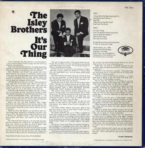 "The Isley Brothers : Album "" It's Our Thing "" T-Neck Records TNS 3001 [ US ]"