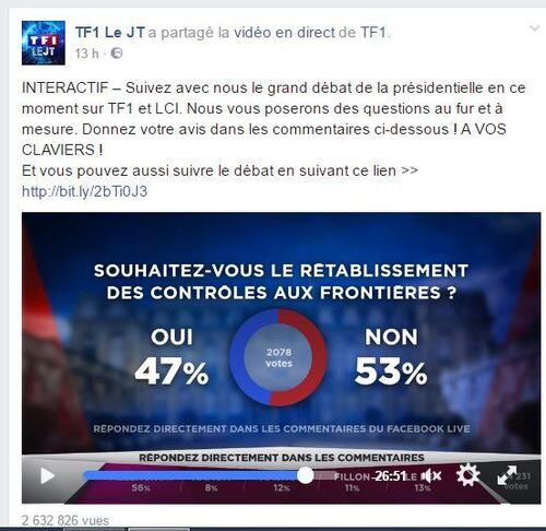 Débat TF1 : Mélenchon le plus convaincant, Le Pen impressionnante
