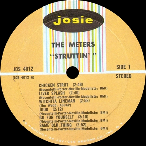 "The Meters "" Struttin' "" Josie Records JOS 4012 [ US ]"