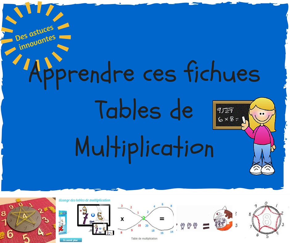 Apprendre ses table de multiplication 28 images table for Apprendre la table de 6