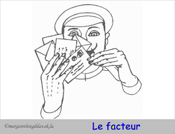 Coloriage le facteur