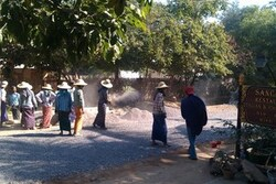 les routes en Birmanie