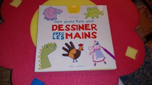 Mon grand livre pour dessiner avec les mains