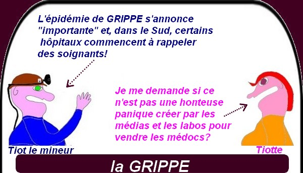 Panique en France, la grippe s'installe?