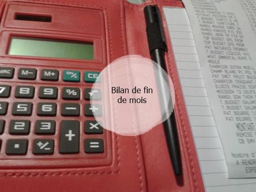 Budget : bilan de fin de mois