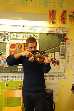 Philippe et son violon