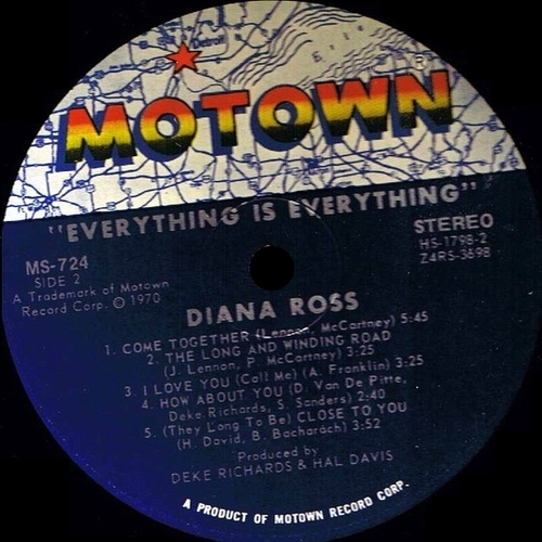 "1970 : Album "" Everything Is Everything "" Motown Records MS-724 [ US ]"