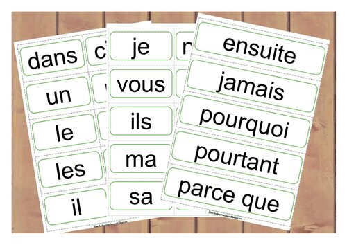 affiches mots outils