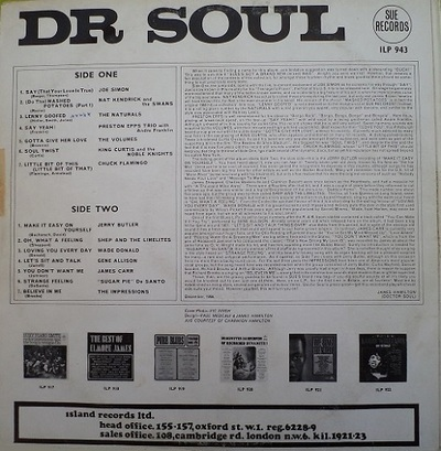 Doctor Soul - Various Sue records ILP 943