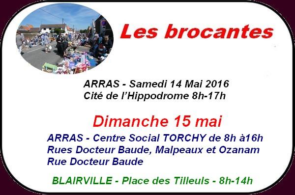 C'est le départ des grandes fêtes communales avec Saint Nicolas les Arras le 15 mai et aussi les brocantes et les randonnées