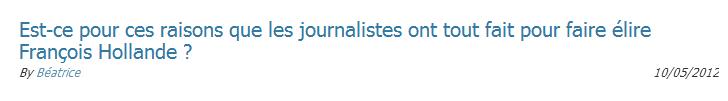 Pourquoi les médias ont-ils ciré les pompes d'Hollande ?