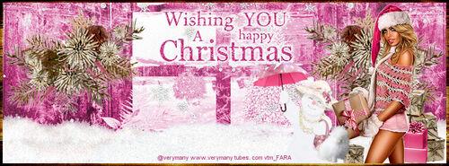WISHING YOU A HAPPY CHRISTMAS ( Je vous souhaite un joyeux Noël )