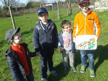 Chasse aux oeufs - 10/4/15