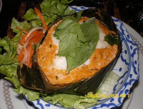 Bangkok Thaïland, ma madeleine sauce citronnelle, galanga  et lait de coco