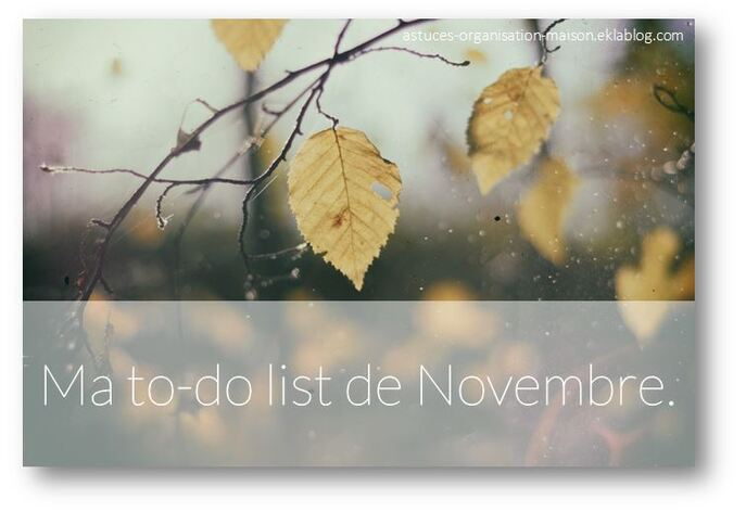 ✿ Ma to-do list de novembre
