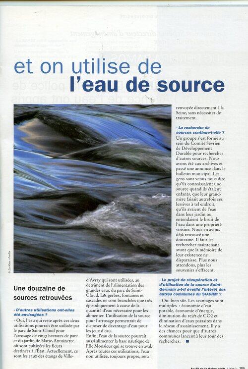 Captage , rétention , utilisation des eaux de source