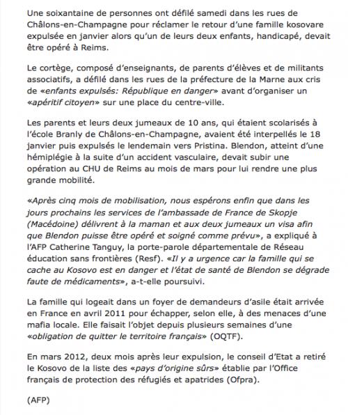 édition du 26 mai 2012
