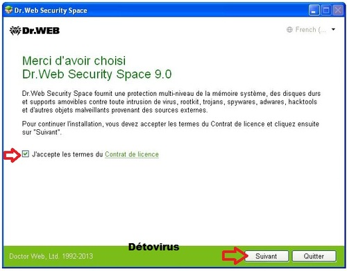 Dr.Web Security Space 9 - Licence 2 mois gratuits