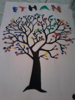 Peinture au coton tige