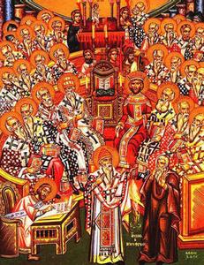 Icone représentant le concile de Nicée