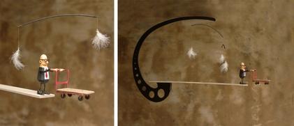 sculpture mobile  vide porte charge suspendu