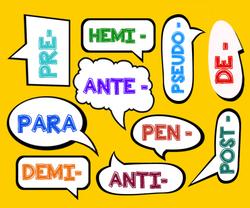 Vocabulaire : les préfixes