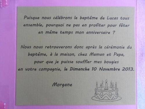 Les 7 ans de Morgane : les invitations !