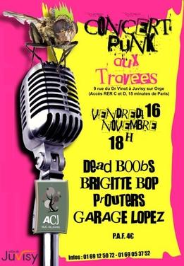 Concert punk aux Travees