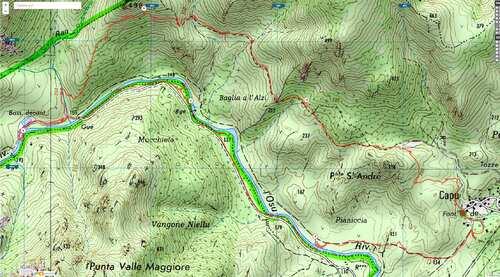 Corse 2016: le sentier du trail de Lecci