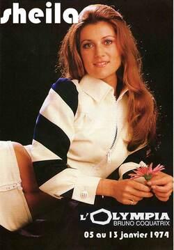 SHEILA à l'OLYMPIA, du 5 au 13 janvier 1974