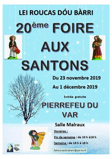 Le retour des santons à Pierrefeu du 23 novembre au 1er décembre 2019