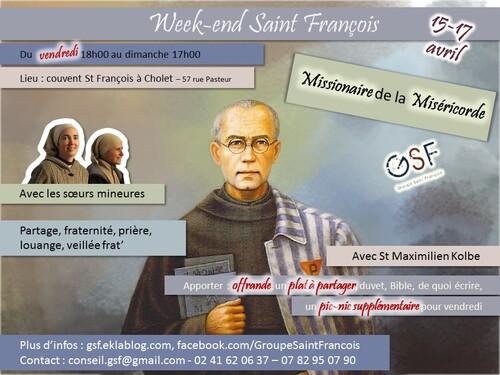 """WE saint François"" 15-17 Avril"