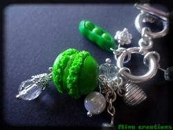 Sautoir Vert de macaron