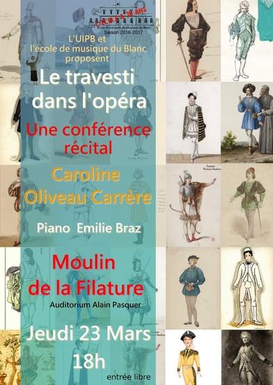 """Conférence """" le travesti à l'opéra """""""