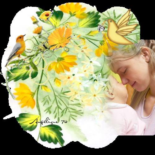 """Le plus beau metier""""Maman""""(fond chez Caroline Blue)"""