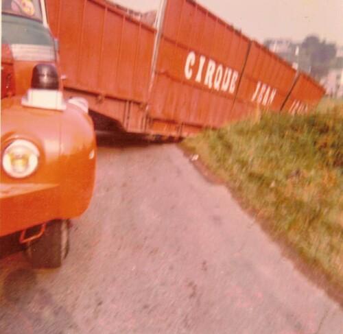accident sur la route au cirque Jean Richard