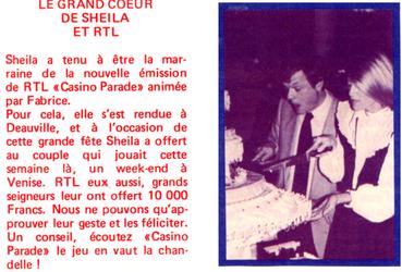 15 octobre 1982 : Sheila marraine sur RTL