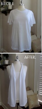 DIY: Super Easy No Sew T-Shirt Vest.