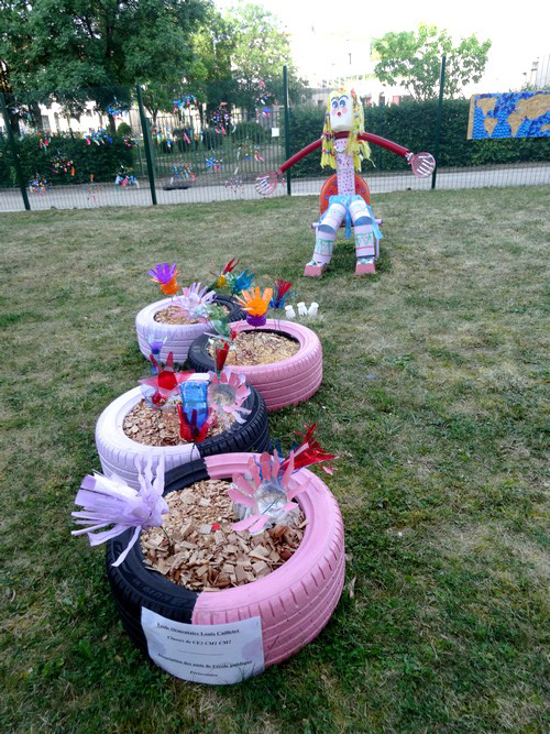 """""""L'Art fait les poubelles"""" une animation réussie du Musée du Pays Châtillonnais en direction des écoles du secteur"""