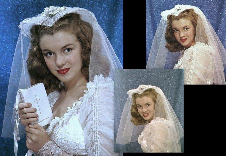 1946 Norma Jeane en mariée par Richard C Miller
