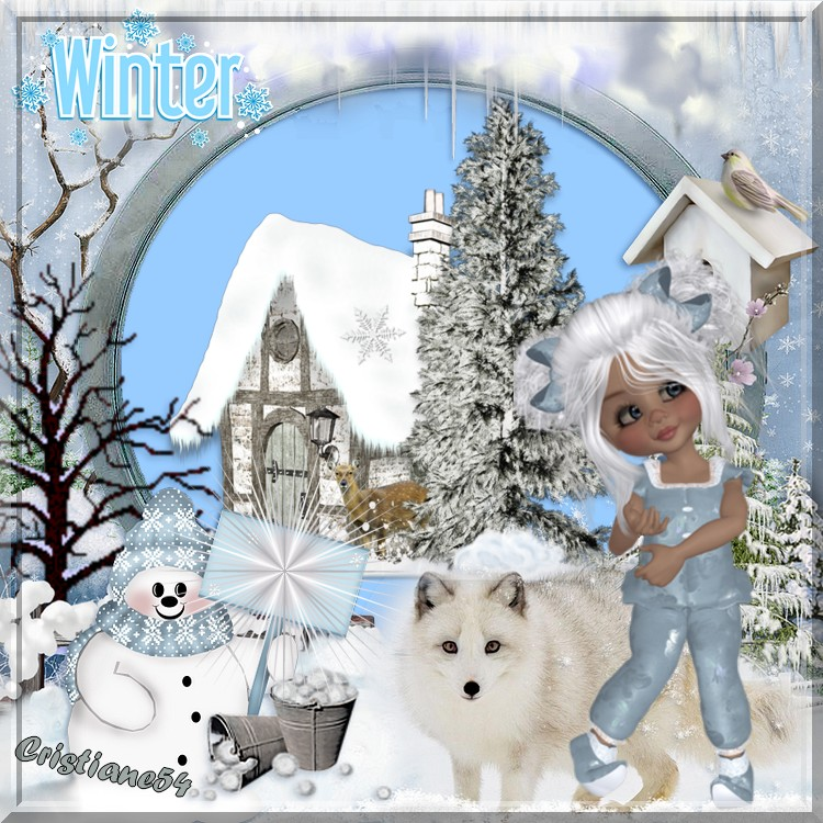 Défi pour Jenny la montagne & Kikoonette hiver!