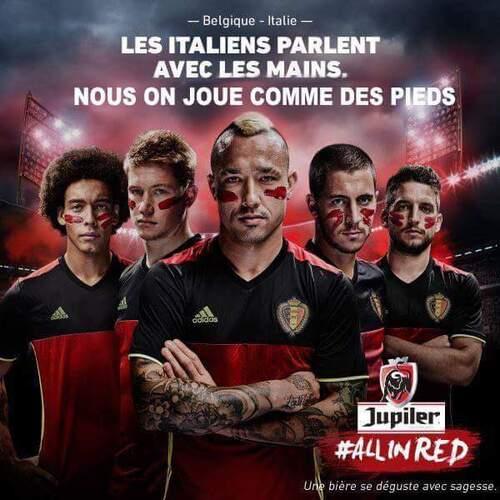 Que penser en photo du match Italien - Belgique à l'Euro 2016 ?